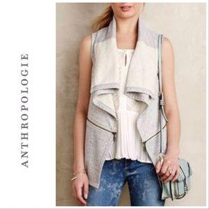 Anthro Saturday Sunday Open Gray Zipper Vest S
